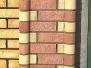 Многоцветные, фигурные столбы из кирпича