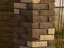 Многоцветные, прямоугольные столбы из кирпича