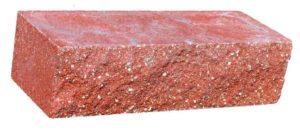 гиперппрессованный облицовочный кирпич красный