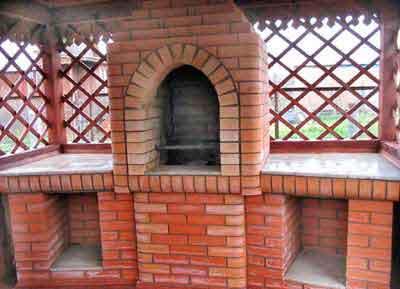 печь камин для дачи из кирпича