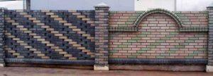 забор из закругленного кирпича